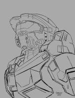 Halo 4 Master Chief - Sketch by AJSabino