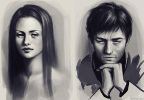 speedpaint portraits by fdasuarez