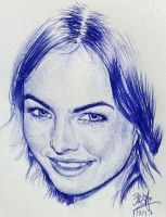 Quick pen sketch of Camilla Belle by chaseroflight