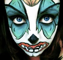 Candy Skull Face Paint by slmbj