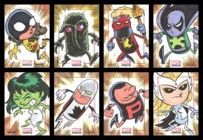 BRONZE AGE sketchcards 041-048 by thecheckeredman