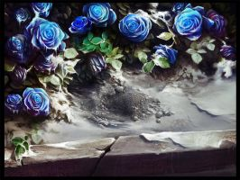 Blue roses by haryarti