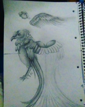 bird doodle page (unfinished) by TigerdragonLilith