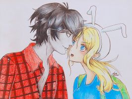 Marshall Lee and Fionna by VannerRox
