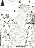 Dr Who Challenge bw by FG-Arcadia