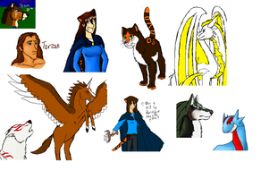 Some iScribble doodles and fanarts by ZeCrazyAngel