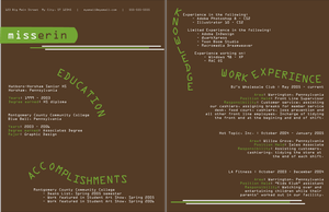 Resume design by tiredofart