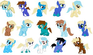 Adoptables: Beach Ponies! Discount !! by Springfield-Mare