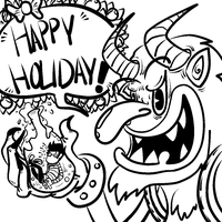 Happy Holiday with Krampus by JaxASDF