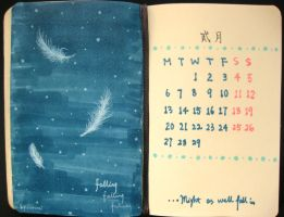 second page of 2012 calendar by wwei
