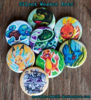 Pokemon Buttons by MortaleRedWolf