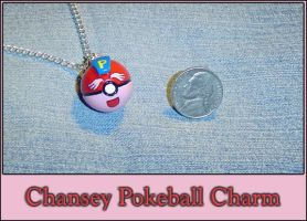 Pokemon Chansey Pokeball Charm by YellerCrakka