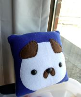 Small Navy Blue Puppy Moosh Pillow by CynicalSniper