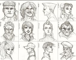 CHARACTER STUDIES -FACES by guece