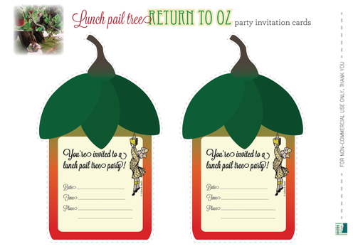 Return to Oz inspired party card invitation by Copper-Moon