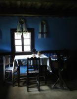 Room inside an old traditional Romanian house by Corina-A