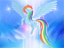 Magestic Rainbow Dash by FlutterDash75