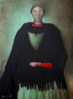 Black Shawl Oil Paint by Boias