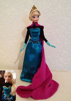 Coronation Elsa OOAK Doll 2 by frozenblume