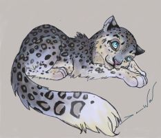 Snow Leopard by yuewolf
