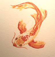 Koi Watercolor by Shinyako