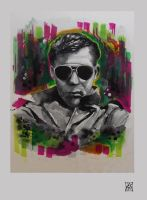 Hunter S Thompson by Zsil-works