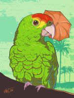 Parrot illustration by snikers15
