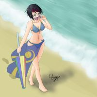 Fiora At The Beach by Doujio