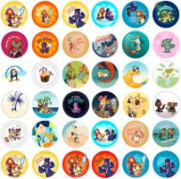 ComicCon Buttons by raisegrate