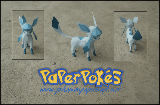 Mini Glaceon Papercraft by Jyxxie