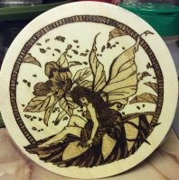 Woodburning - Flower Fairy by Stepher17