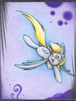 Derpy in Wonderland by albinoshadow