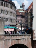 City hall and castle tower Nuremberg by andersvolker