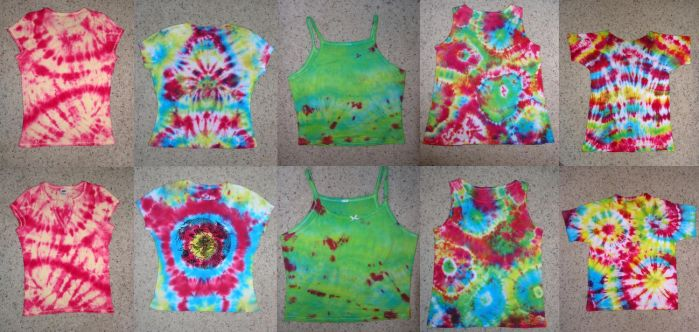 tie dye compilation by psychedelic-rain