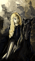 Lady Luna Lovegood and the Thestral by Catherine-PL