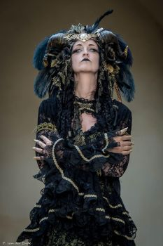 Stock - Black and gold Vampire Queen Faun Demon 43 by S-T-A-R-gazer