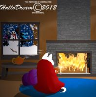 Enjoying to keep warm for winter by HalloDream