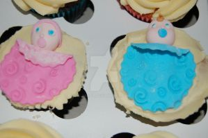 Baby Shower Cupcakes by JanJL