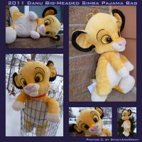 DANU Big Headed Simba Pajama Bag by DoloAndElectrik