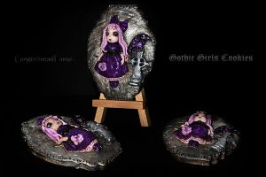 Gothic Girls Cookies 2 by GingerbreadFairy