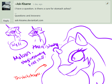 Q and A: 9: Stomach aches.. by Ask-Nightmare-Moon