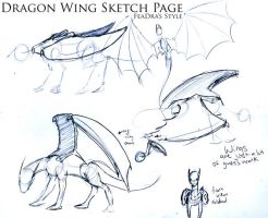 Dt: wings sketchs by FeatheredDragon