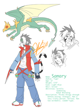 Samary's 3rd Outfit Ref Sheet by silverava