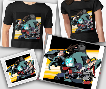 Team Monkey Wrench T-Shirts Posters Avaliable by Zeurel
