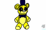 Golden Freddy plushie by SkywalkerSpikes