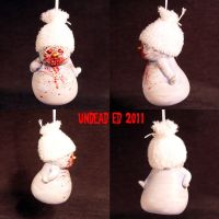 Zombie Snowman ornament by Undead-Art