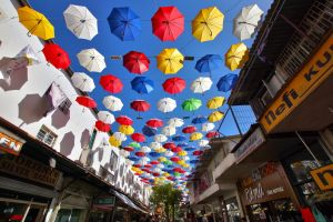 Umbrellas  Street by CitizenFresh