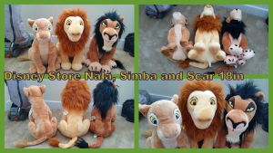 Disney store Nala simba and Scar 18in by Vesperwolfy87