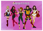 My DCU - Queens of Justice Redesigned by Femmes-Fatales