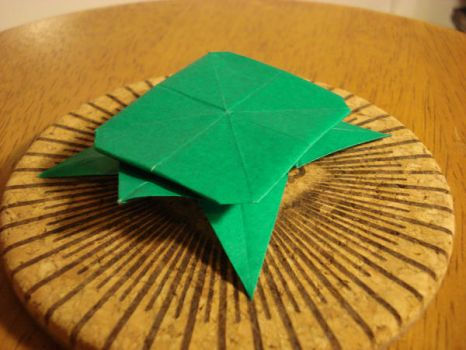 Origami turtle or tortoise by afrokenshi